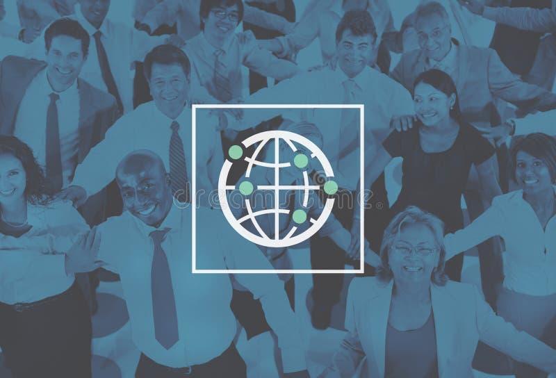 Globale Communautaire Internationale Verbonden Wereld Wereldwijd royalty-vrije stock afbeelding