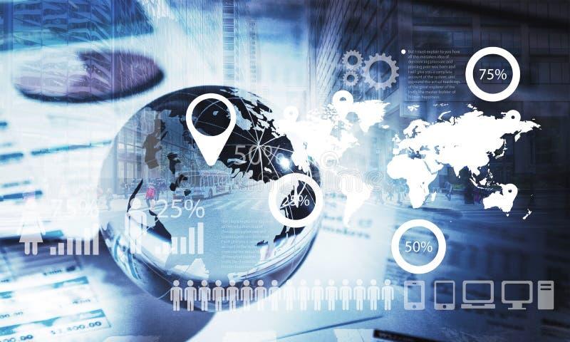 Globale communicatie concept en illustratie royalty-vrije illustratie