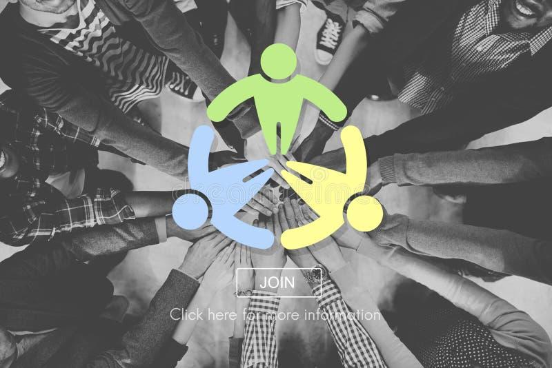 Globale Concept van de mensen het Communautaire Maatschappij stock foto