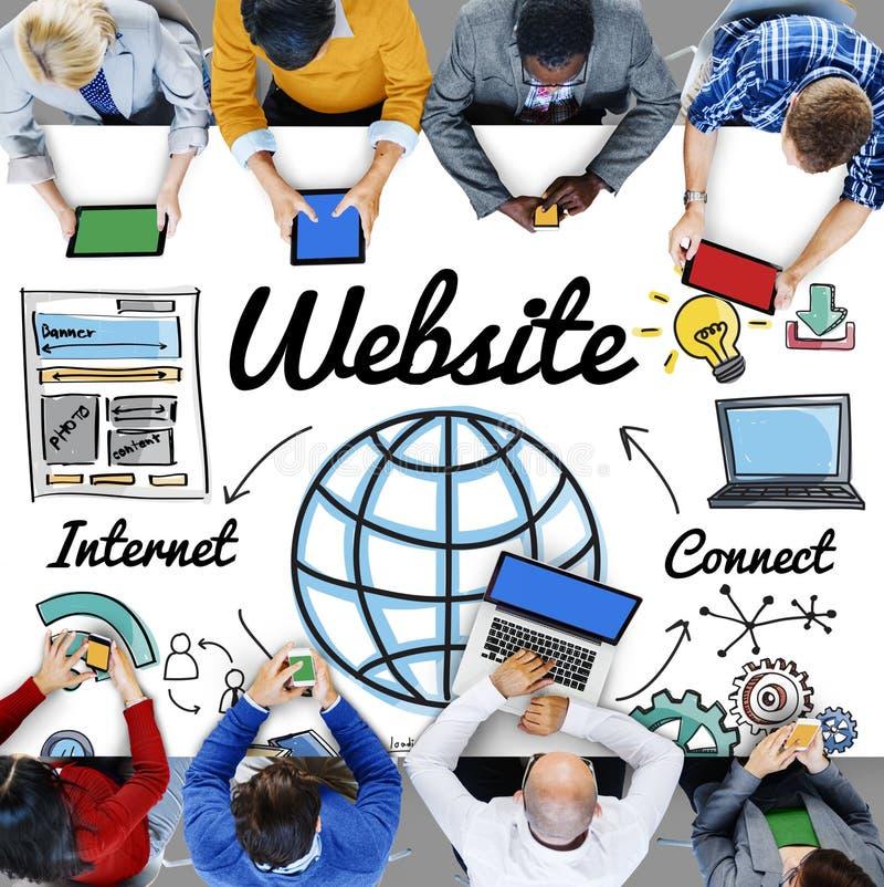 Globale Concept van de websitewww het Online Technologie stock foto