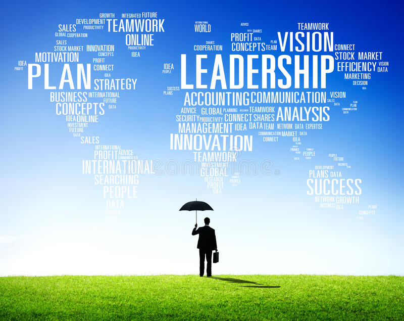 Globale Concept van leidings het Chef- Management Coach Chief stock fotografie