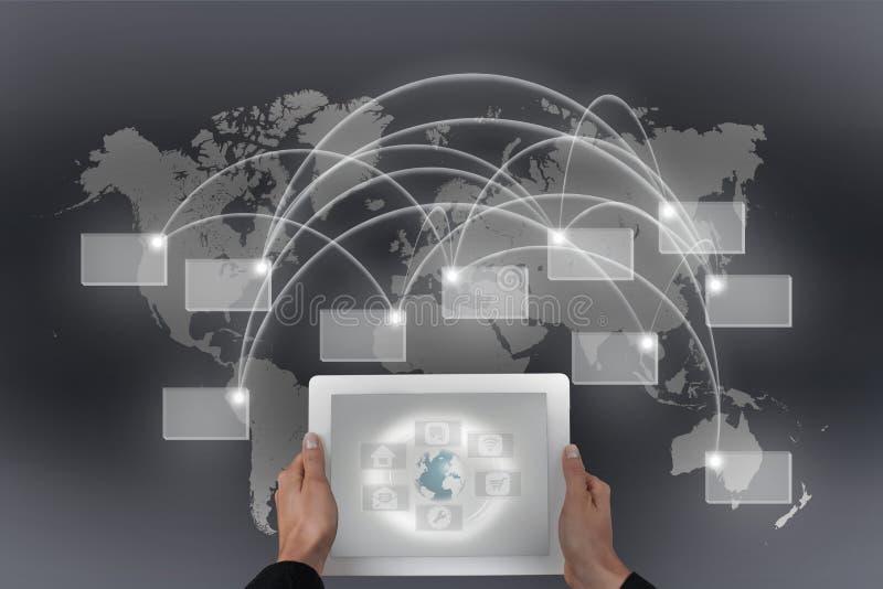 Globale connectiviteit vector illustratie