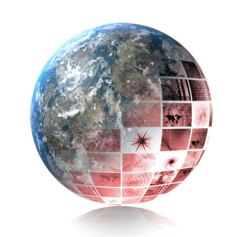 Globale Crisis royalty-vrije illustratie