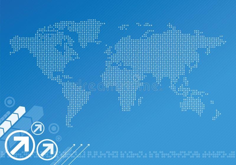 Globale digitale kaart royalty-vrije illustratie
