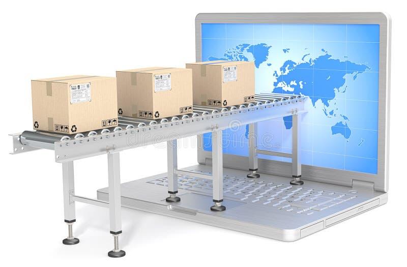 Globale distributie vector illustratie