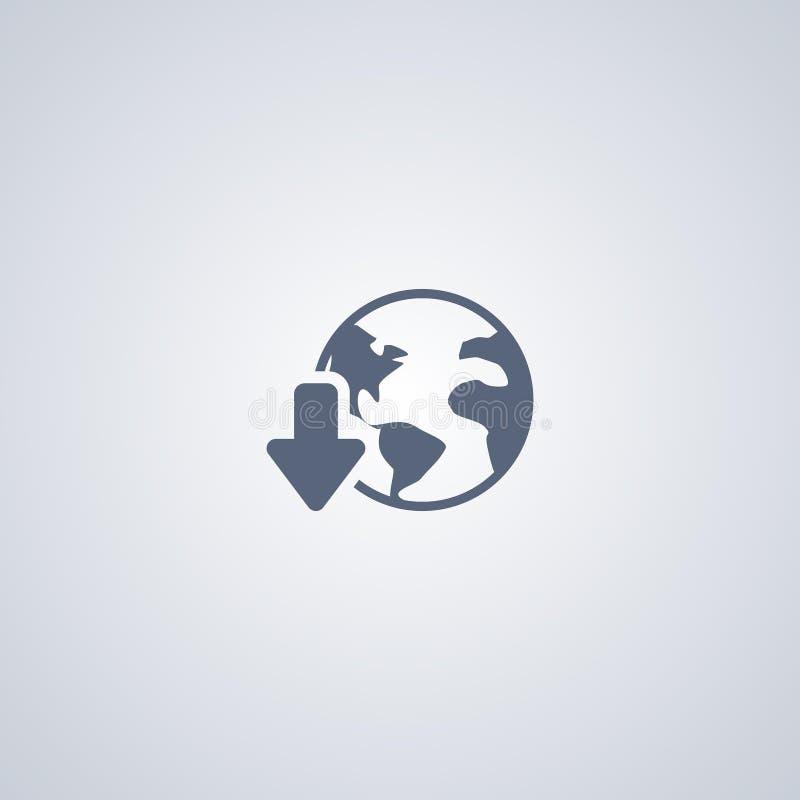 Globale download, vector beste vlak pictogram vector illustratie