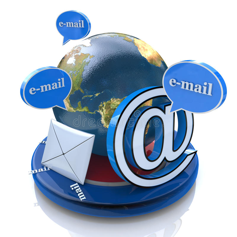 Globale e-mail royalty-vrije illustratie