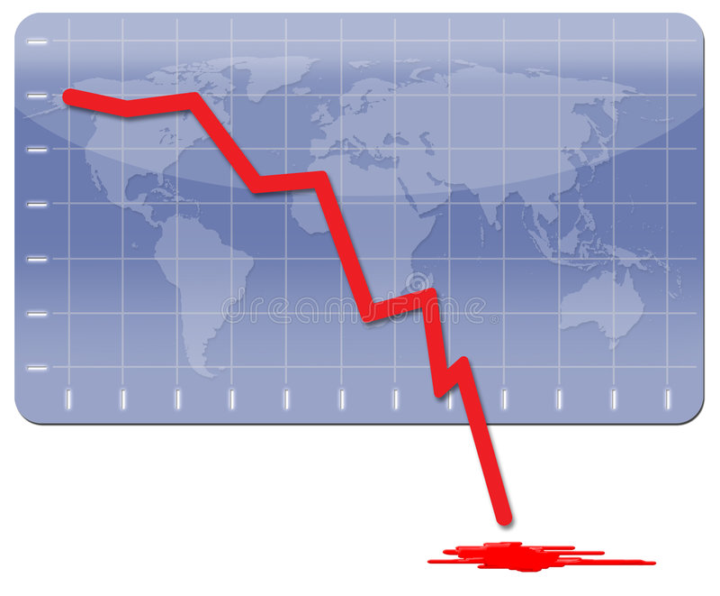 Globale Economische Crisis stock foto