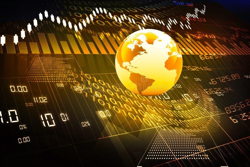 Globale effectenbeurs stock illustratie