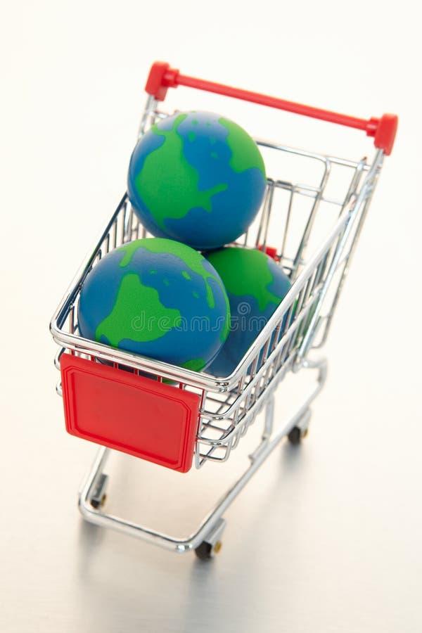 Globale elektronische handel stock afbeelding