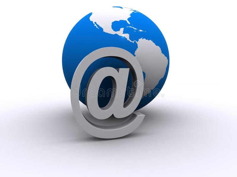 Globale eMail stock abbildung