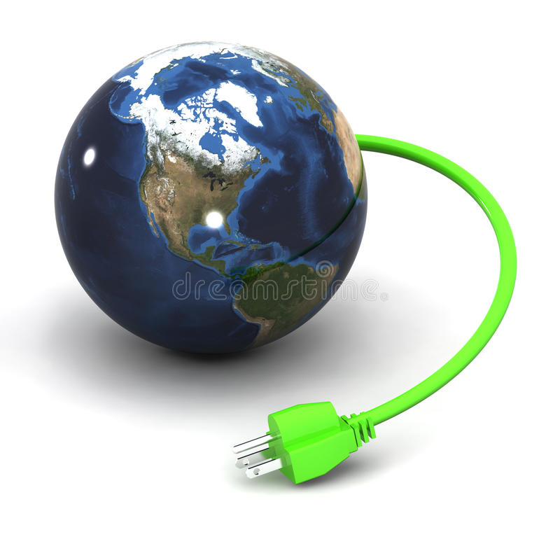 Globale Energie royalty-vrije illustratie