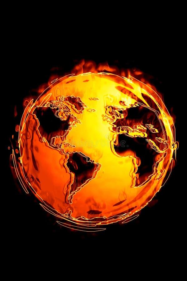 Globale Erwärmung (heißes serie) stockfoto