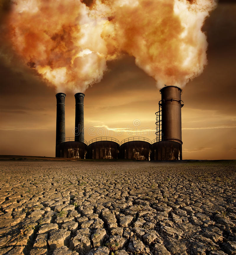 Globale Erwärmung-Thema stockbilder