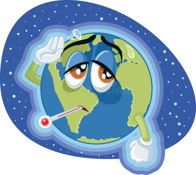 Globale Erwärmungs-Erdkonzept-Illustration der hohen Temperatur lizenzfreie abbildung