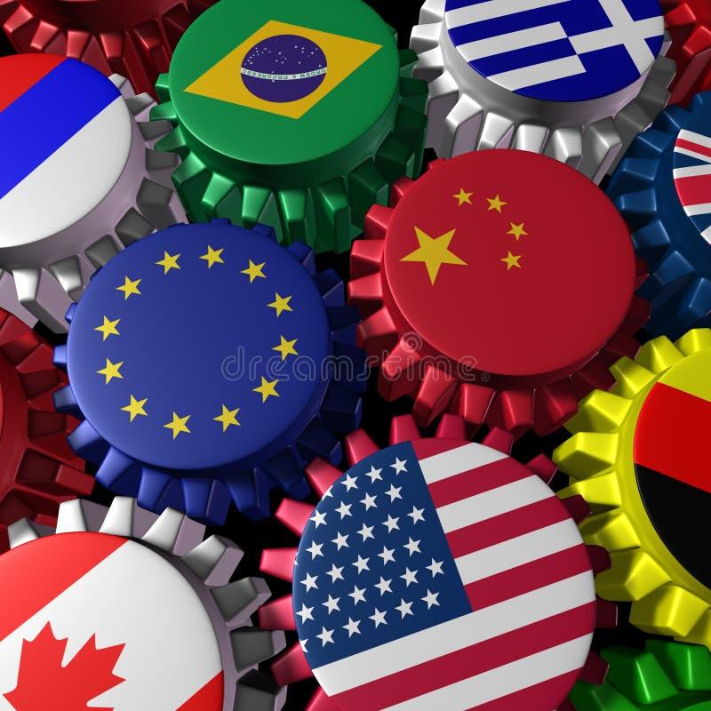 Globale financiën en handel vector illustratie