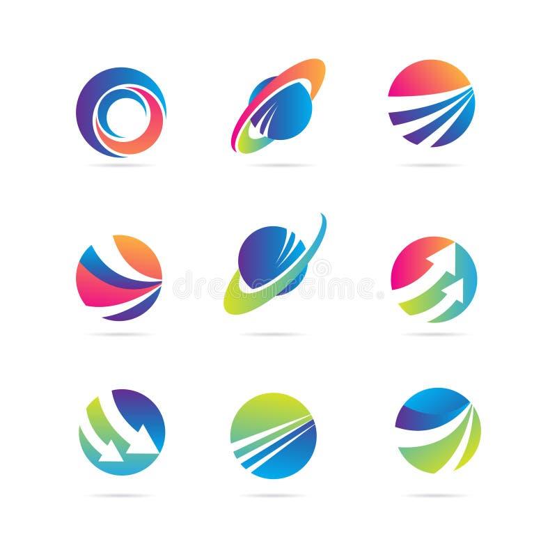 Globale Financieringsmaatschappijzaken Logo Template Collection royalty-vrije illustratie