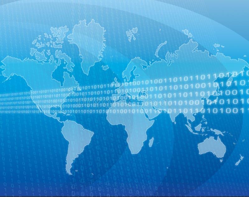 Globale gegevens stock illustratie