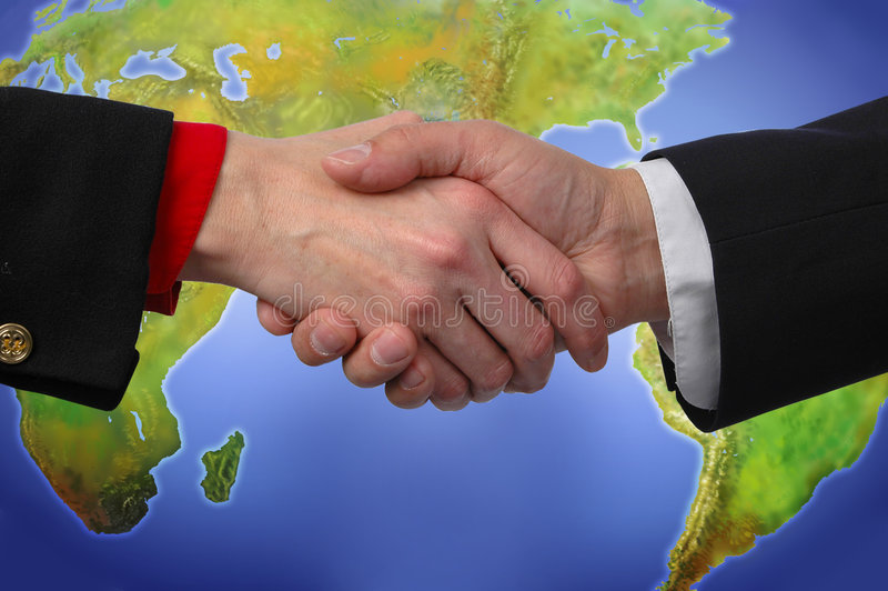 Globale Handdruk stock fotografie