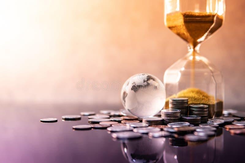Globale handelsinvesteringen Het concept van de rijkdom royalty-vrije stock afbeeldingen