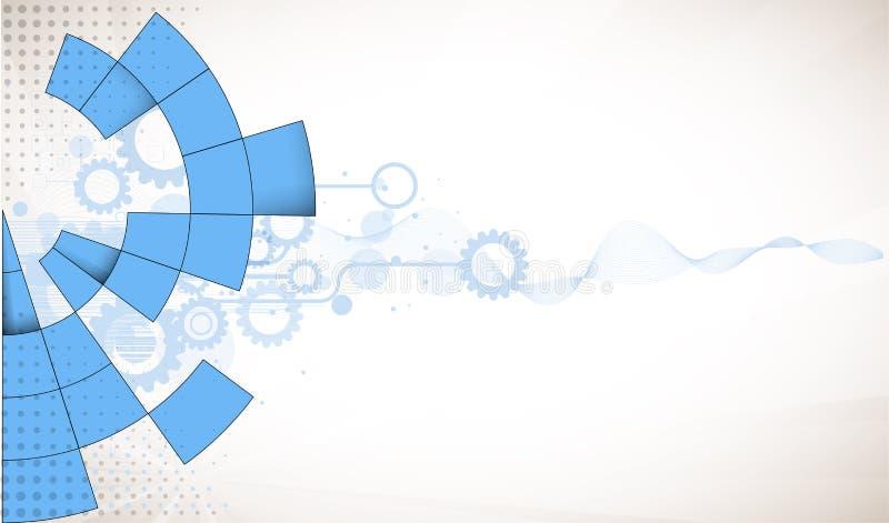 Globale het concepten van de bedrijfs oneindigheidscomputertechnologie achtergrond vector illustratie