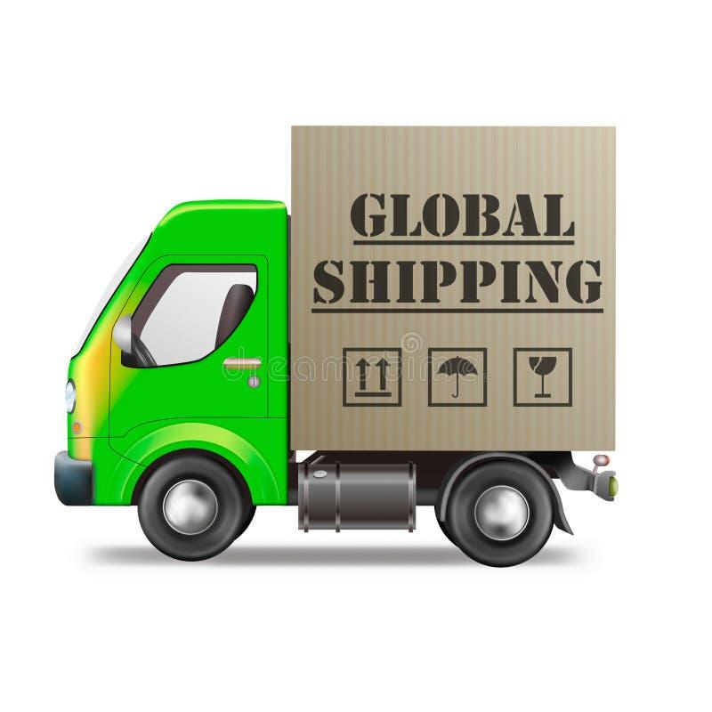 Globale het verschepen pakket internationale handel vector illustratie