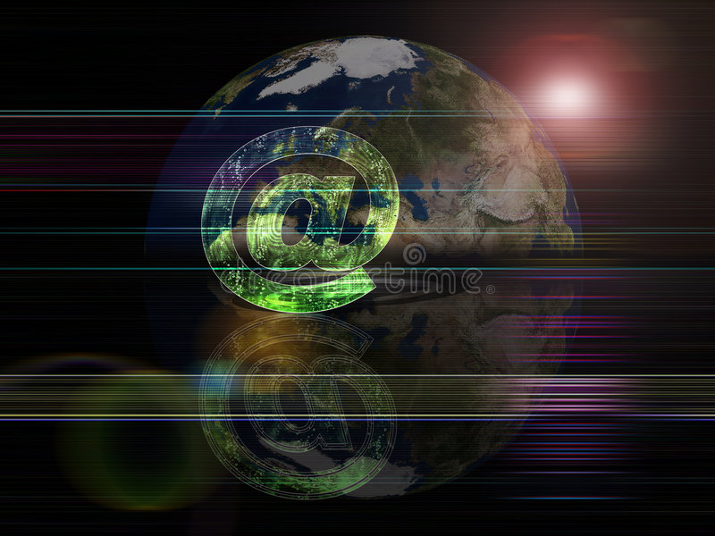 Globale Hintergrundserien eMail lizenzfreie abbildung