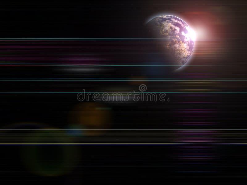 Globale Hintergrundserien steigende Erde lizenzfreie abbildung