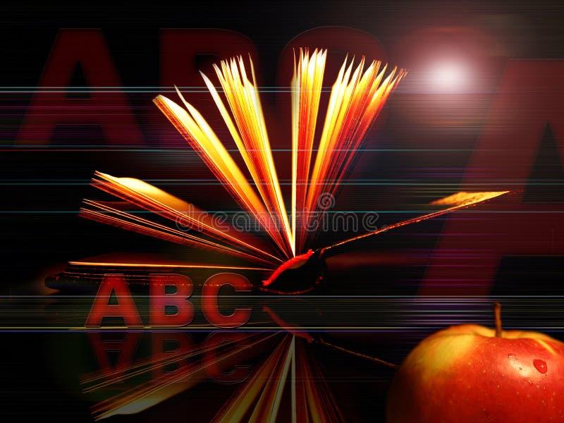 Globale Hintergrundserien zurück zu Schule stock abbildung
