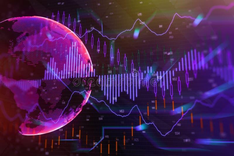 Globale industrie en handelsachtergrond vector illustratie