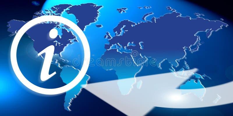 Globale informatie stock illustratie