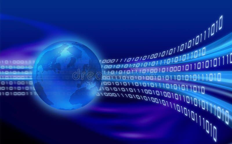 Globale informatiestroom stock illustratie
