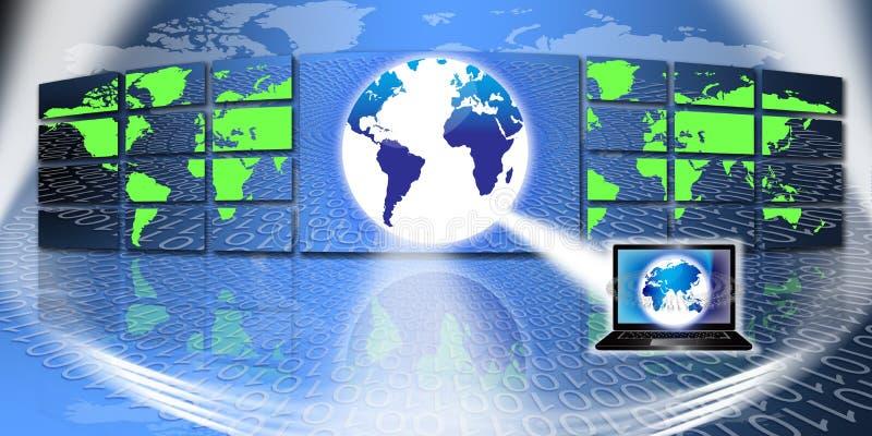 Globale Informatietechnologie vector illustratie