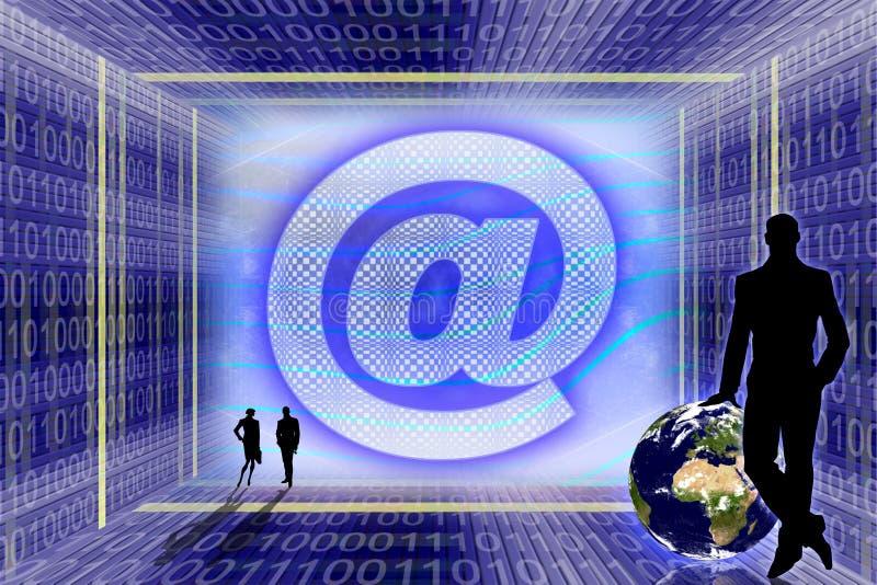 Globale Informatietechnologie. vector illustratie