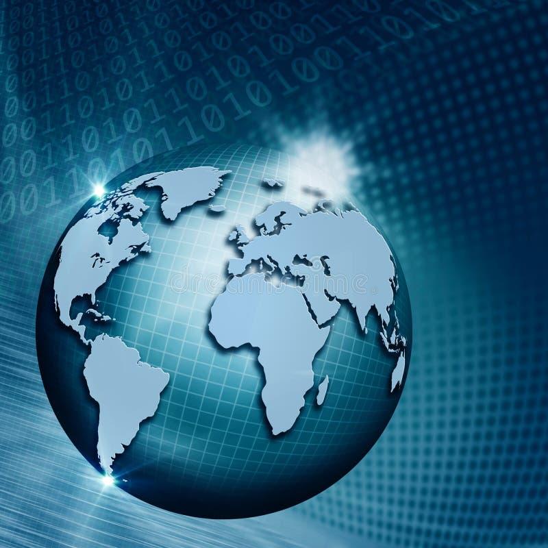 Globale Informatietechnologie. Abstracte technoachtergronden voor y vector illustratie