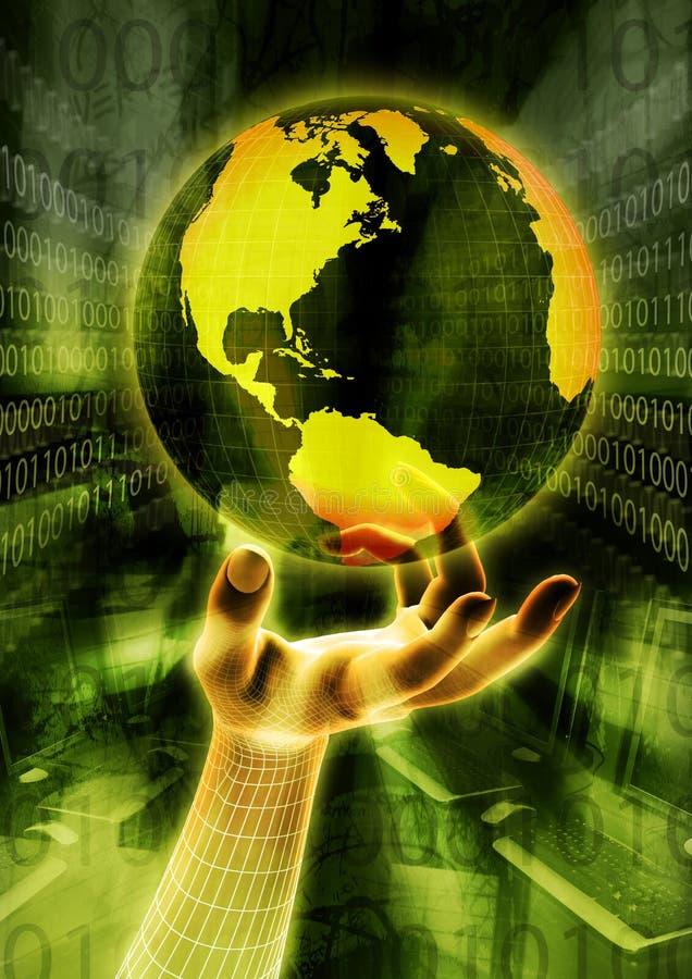 Globale Informationen stock abbildung