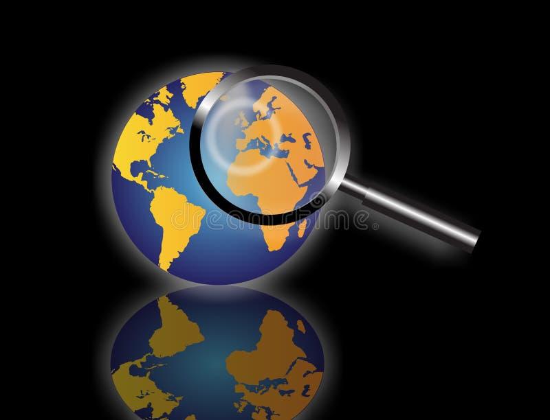 Globale Informationsrecherche stock abbildung