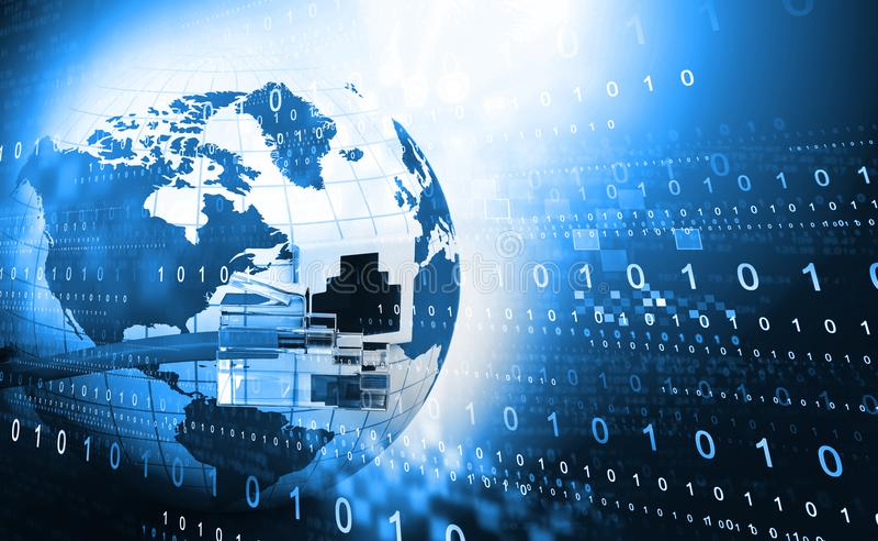 Globale Internet aansluting vector illustratie