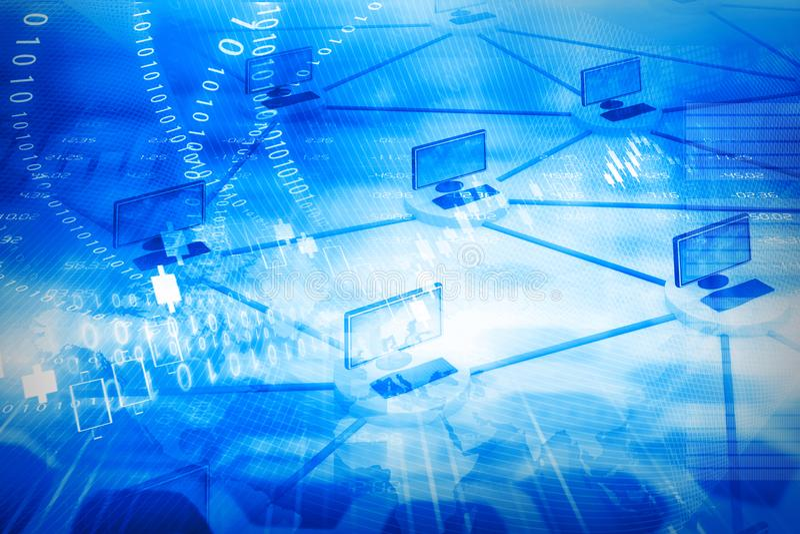 Globale Internet aansluting stock illustratie
