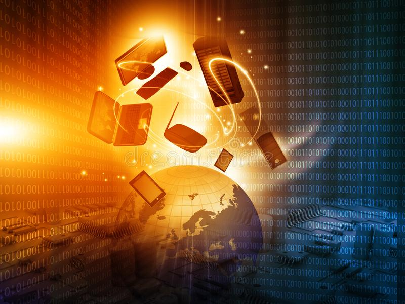 Globale Internet aansluting royalty-vrije illustratie