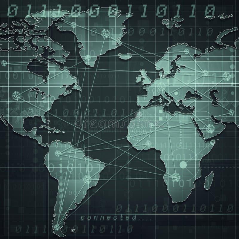 Globale Internet-mededelingen stock illustratie