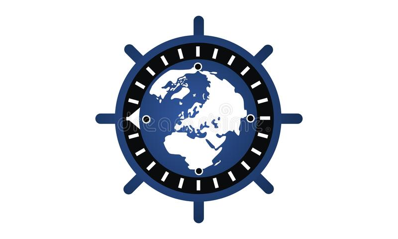 Globale Internetsicherheit lizenzfreie abbildung