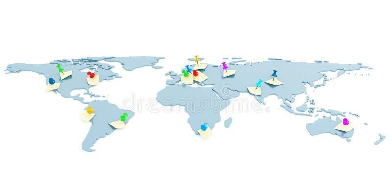 Globale Karte stock abbildung