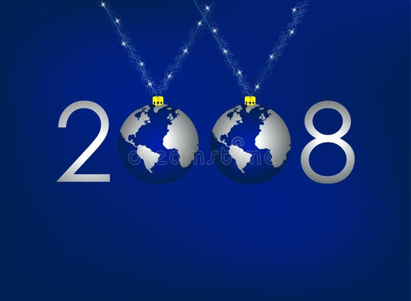 Globale Kerstmis stock illustratie