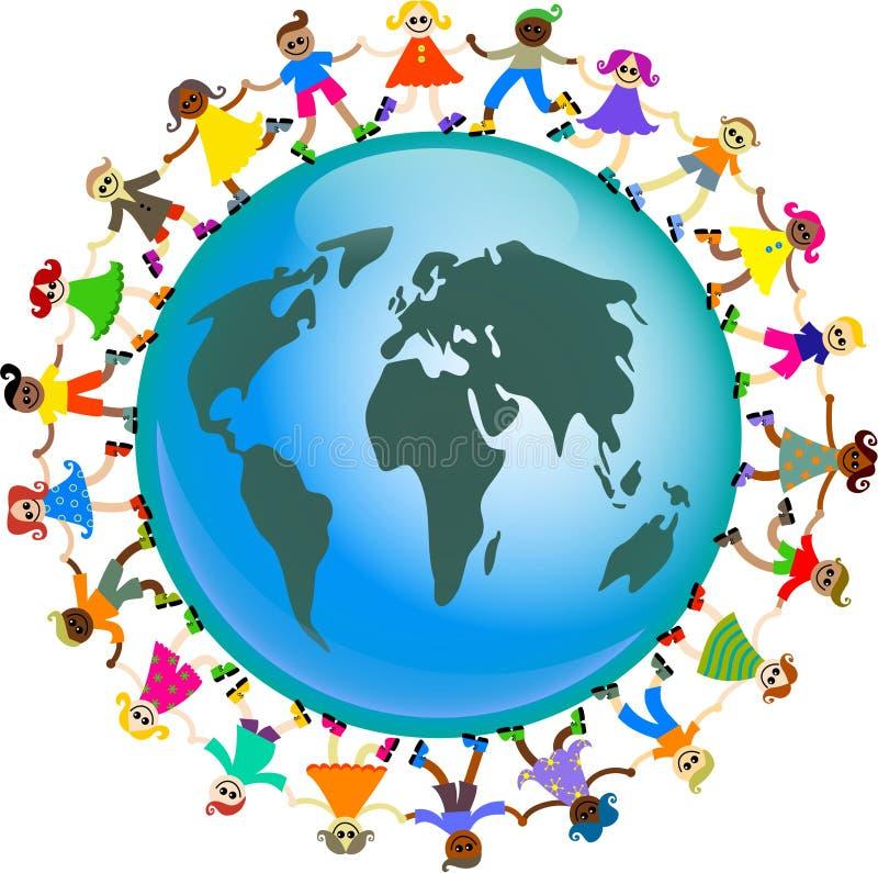 Globale Kinder vektor abbildung
