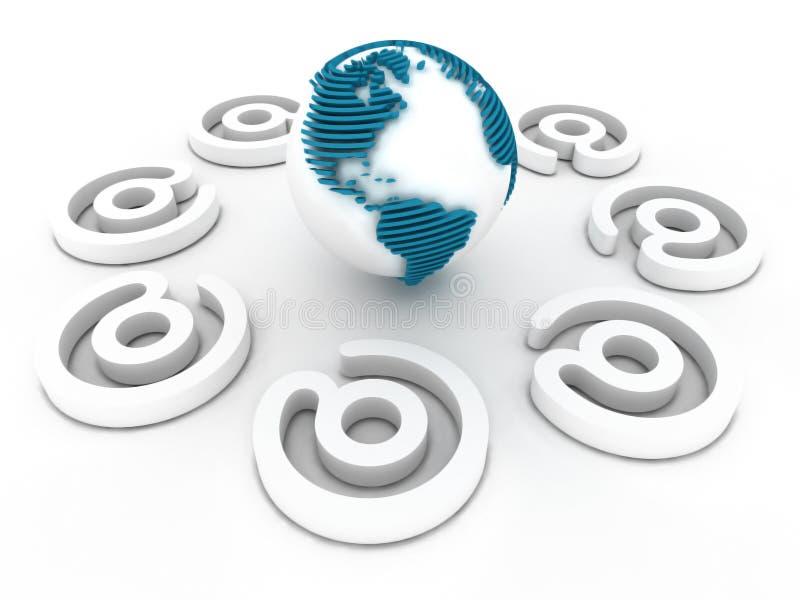 Download Globale Kommunikation stock abbildung. Illustration von computer - 9099920