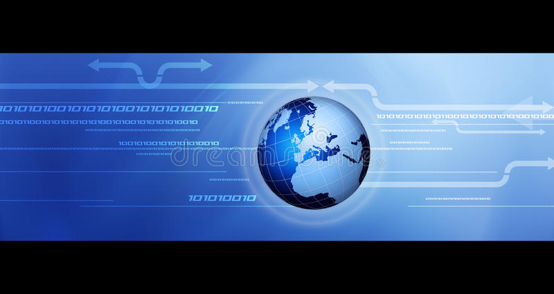 Globale Kommunikation. vektor abbildung