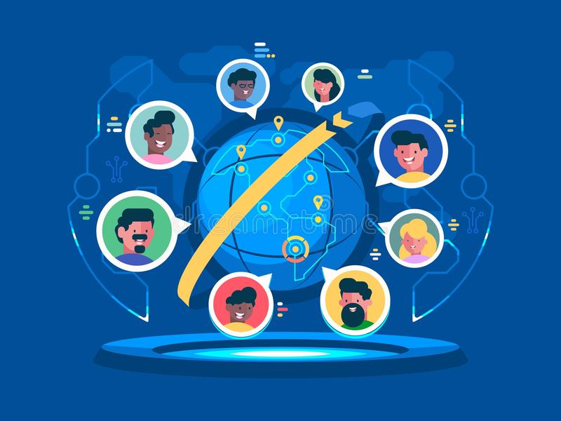 Globale Kommunikation weltweit vektor abbildung
