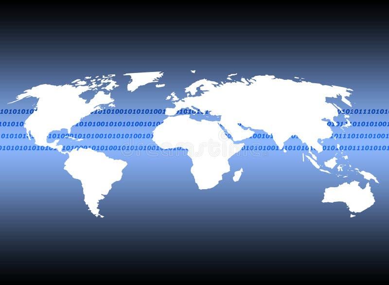 Globale Kommunikationen lizenzfreie abbildung