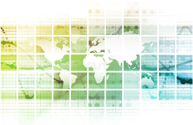 Globale Konferenz stock abbildung